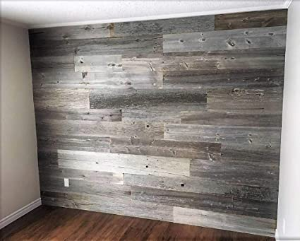 amazon com peel and stick reclaimed barn wood planks for walls