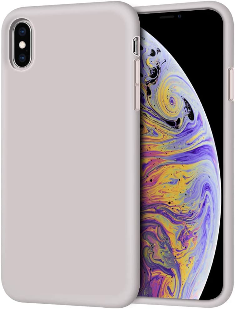 Anuck Case for iPhone Xs Max Case 6.5 inch 2018, Soft Silicone Gel Rubber Bumper Case Anti-Scratch Microfiber Lining Hard Shell Shockproof Full-Body Protective Case Cover - Lavender Gray