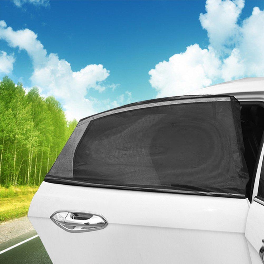 para ventanas de coche de malla negra parasoles mosquitera negro negro Talla:M 2 fundas protectoras para ventanas traseras de coche protecci/ón UV protecci/ón contra insectos