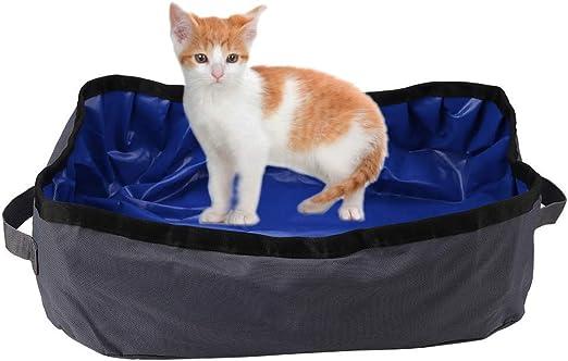 Caja de arena para gatos Arenero plegable y portátil para gatos a ...