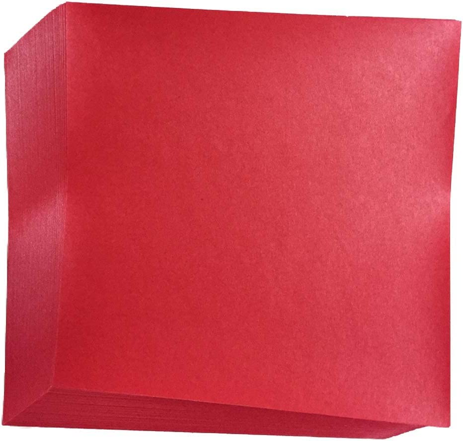 "Pack of 50 Sheets Japanese 6/"" x 6/"" RED Color Premium Origami Paper Made in Japan"