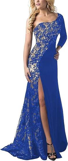 Vestiti Lunghi Eleganti Blu.Donna Vintage Vestito Da Partito Vestiti Lunghi Cocktail Da