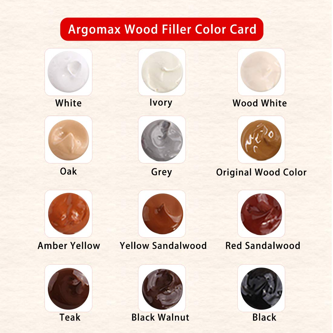 Argomax 12 Color Scratches and Cracks Repair System Kit Cover Wood Scratch Touch Up Filler Restorer for Any Wood