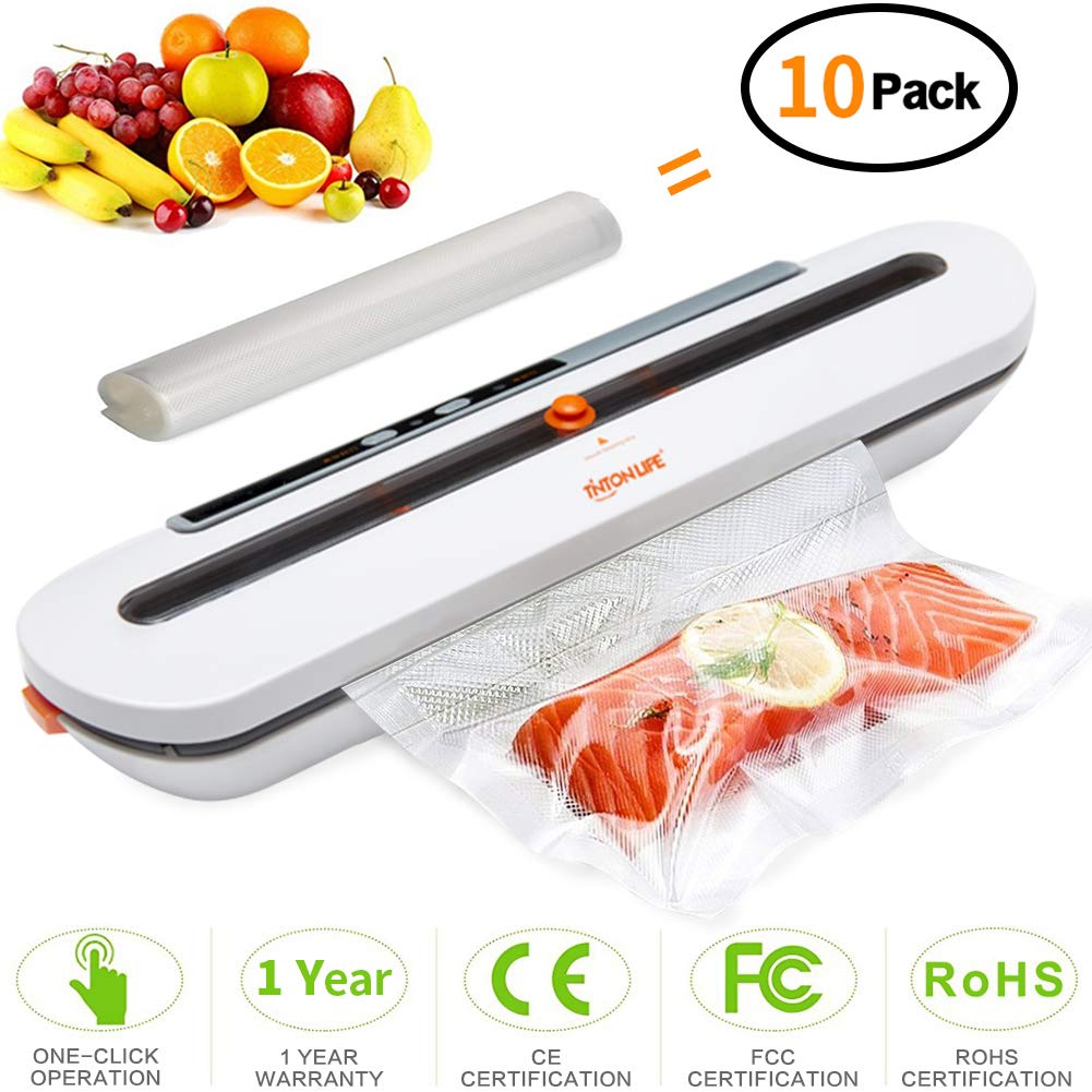 TINTON LIFE Small Household Vacuum Packaging Machine Portable Wet and Dry Sealing Machine Automatic Preservation Food Vacuum Sealer