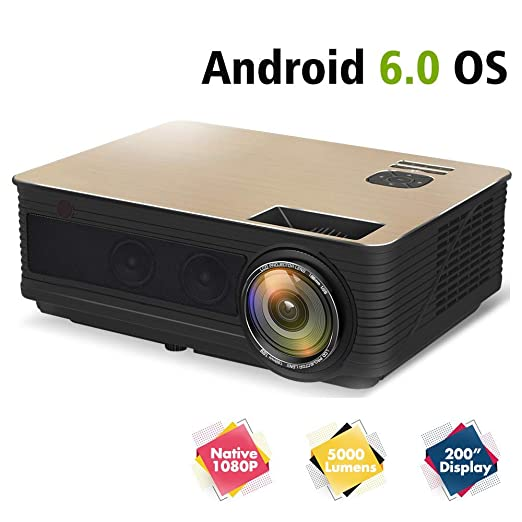 AI LIFE Proyector de Video Nativo 1080P 5000 Lux y MAX 300 ...