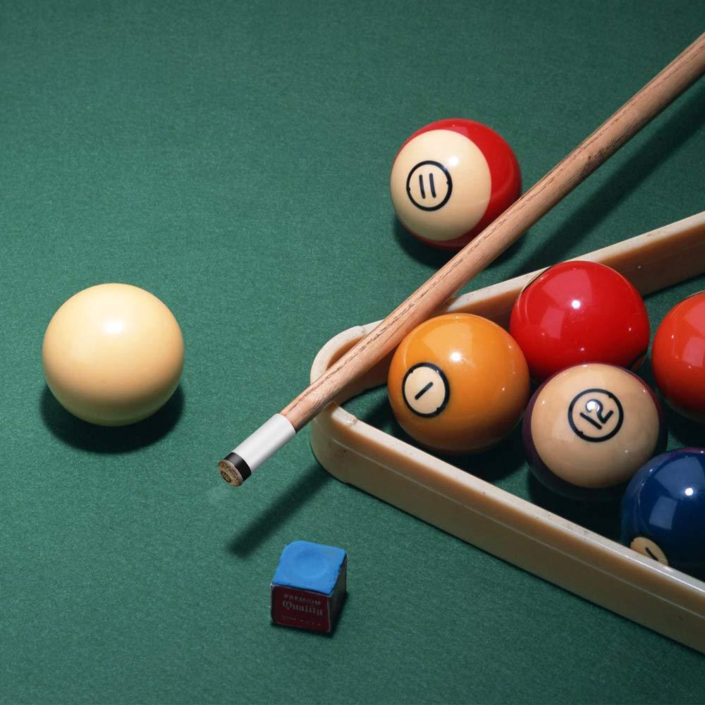 DEACARETA 12 Set Punta de Repuesto para Taco de Billar,Puntas de Billar Duro de 12MM,Punteras de Billar de Snooker con Rosca Met/álica y Tip Duro Color Marr/ón
