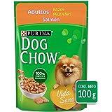 DOG CHOW Alimento Húmedo Adultos Razas Pequeñas Salmon, Paquete con 20 Pzas de 100g