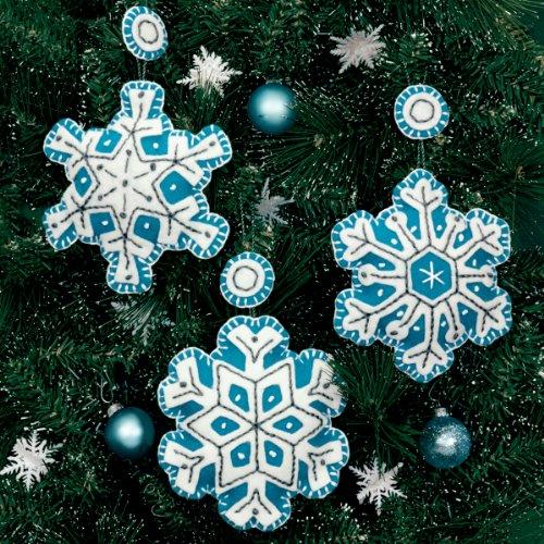 Dimensions Felt Applique -ornament: Flurries: Set Of 3