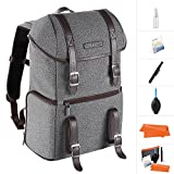 K&F Concept DSLR Camera Backpack Multifunctional Waterproof Nylon Bag with 24L Capacity for 14'' Laptop,Camera, Tripod,Lenses and Photography Accessories