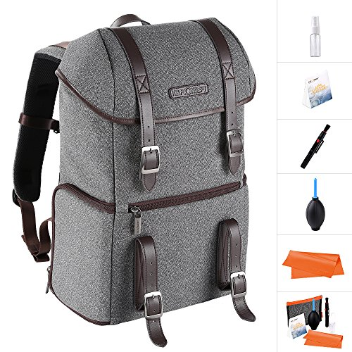 K&F Concept DSLR Camera Backpack Multifunctional Waterproof Nylon Bag with 24L Capacity for 14'' Laptop,Camera, Tripod,Lenses and Photography Accessories by K&F Concept