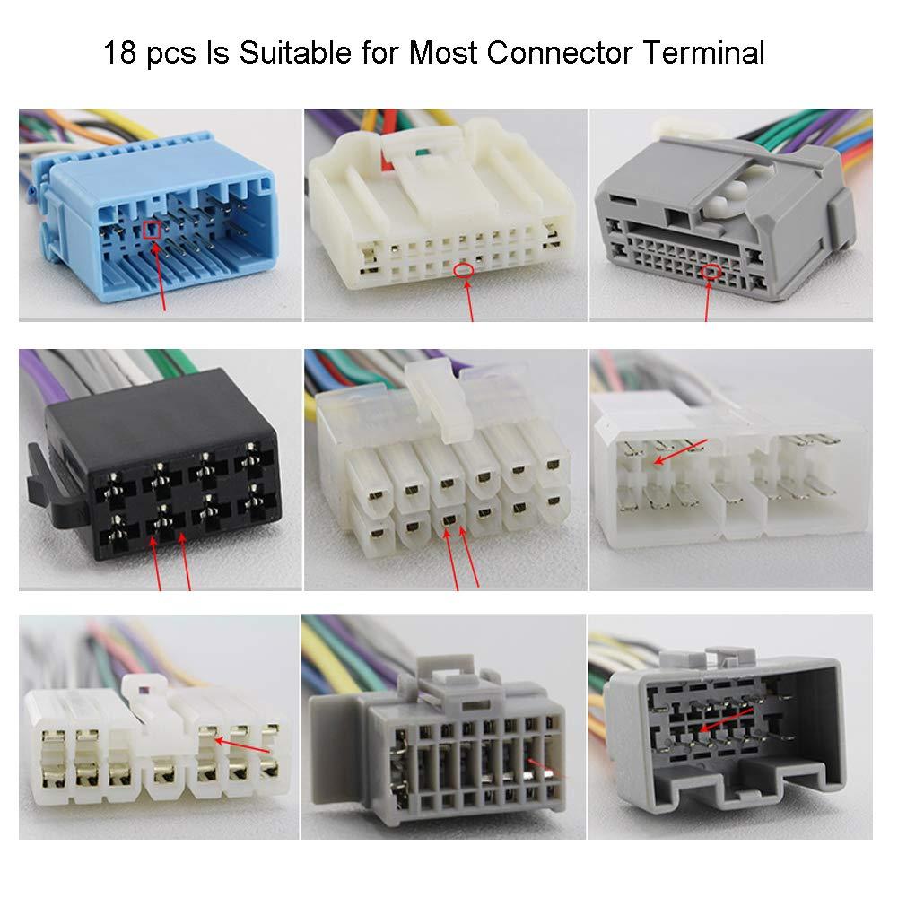 Velidy 18PCS auto terminal strumento di rimozione auto cablaggi elettrici crimpare connettore pin estrattore Release pin kit