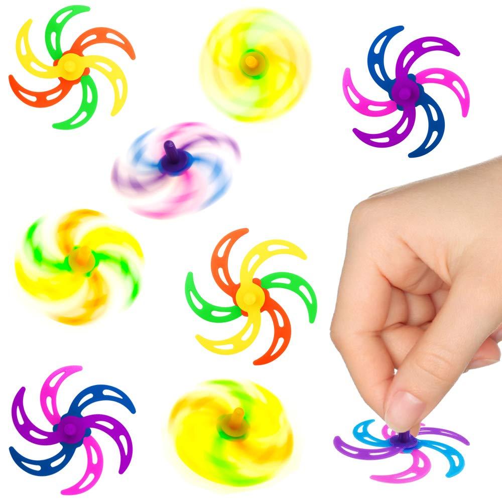 Twist and Fun ┃Gran Efecto de Rotaci/ón┃ Cumplea/ños Ni/ños┃Regalito┃6 Piezas German Trendseller/® 6X Juguete Giratorio