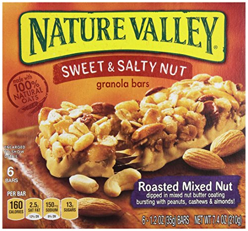 Roasted Granola (Nature Valley Granola Bars, Sweet & Salty Roasted Nut Mix, 6 Count)