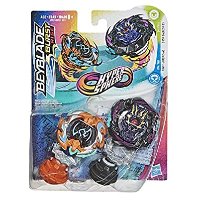 BEYBLADE Burst Rise Hypersphere Dual Pack Dusk Balkesh B5 and Right Artemis A5 -- 1 Left-Spin and 1 Right-Spin Battling Top Toy, 8 and Up: Toys & Games