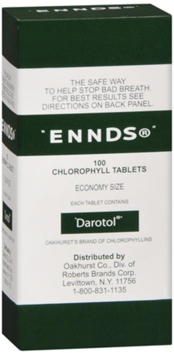 Ennds Chlorophyll Tablets 100 Tablets (Pack of 4)