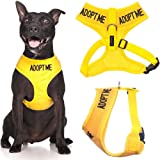 Dexil Limited Adopt ME (I Need A New Home) Yellow Color Coded Non-Pull Front and Back D Ring Padded and Waterproof Vest Dog Harness Prevents Accidents by Warning Others of Your Dog in Advance
