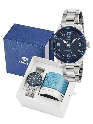 Pack Comunión Reloj Marea Niño Sport y Altavoz Azul B35322/3: Amazon.es: Relojes