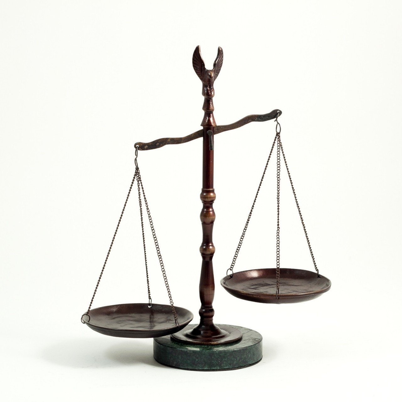 Amazon.com: Bronzed Legal Lawyer Scales Of Justice With Eagle Finial And  Marble Base 12.5in.ht G.: Office Products