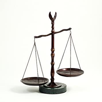 Amazon com: Bronzed Legal Lawyer Scales of Justice with