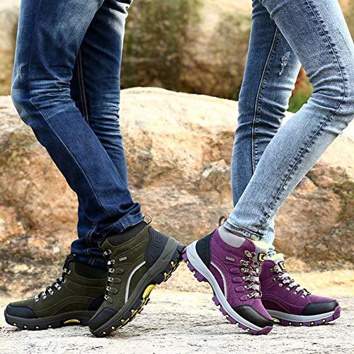 RoadRoman Winter Outdoor Plus-Down Kletterschuhe Lace-Up Lace-Up Lace-Up Damen Anti-Rutsch-Wanderschuhe B07LDQZXLN Kletterschuhe Trend 6d2e45
