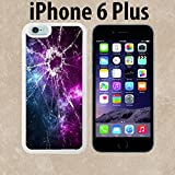 Cracked Screen Prank Custom made Case/Cover/skin FOR iPhone 6 Plus - White - Rubber Case ( Ship From CA)