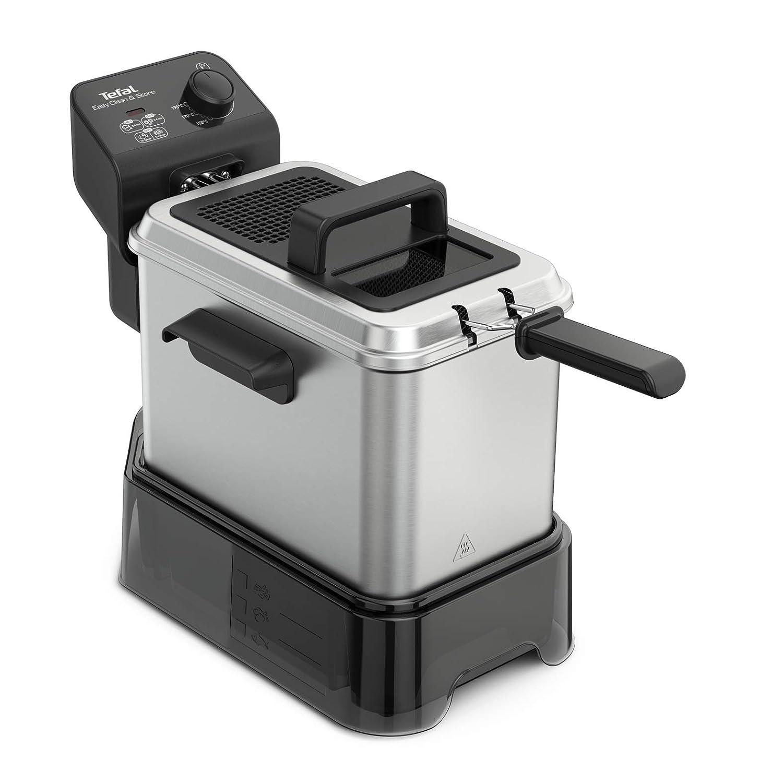 Tefal Easy Clean & Store - Freidora, hasta 1 kg de comida/3.5 L de aceite, 190 C, color plata y negro: Amazon.es: Hogar
