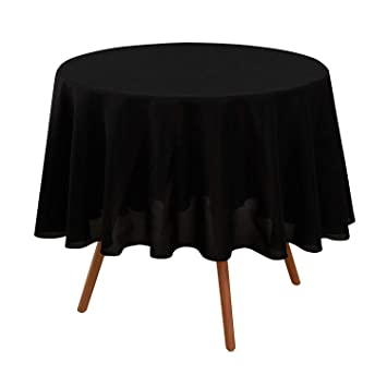 Deconovo Nappe Noir Ronde Impermeable Nappe Exterieur Decoration ...