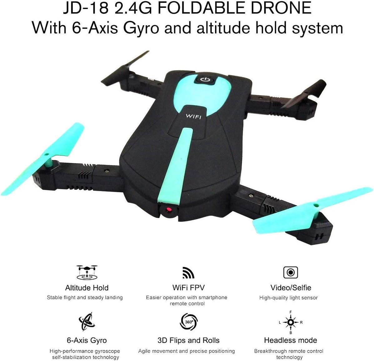 Dailyinshop JD-18 2.4G LAN FPV 200W Kamera faltbare 6-Achsen-Gyro ...