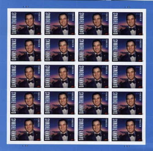 Danny Thomas Sheet of 20 Forever Stamps Scott 4628 by USPS