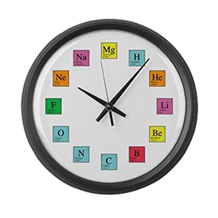 Amazon cafepress periodic table clock large 17 round wall cafepress periodic table clock large 17quot round wall clock unique decorative clock urtaz Images