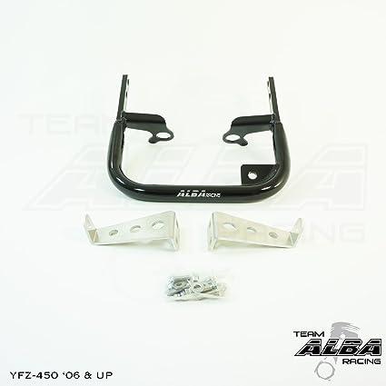 XFR Extreme Fabrication Aluminum Cooler Rack Grab Bar Yamaha YFZ450 YFZ 450 2004-2005 High Gloss Black Finish