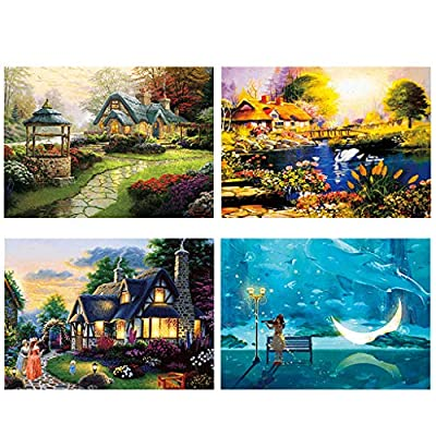 TREPP Jigsaw Puzzles for Adults 500 Piece Landscape Pattern Adult Children Puzzle Intellective Educational Toy (C): Toys & Games