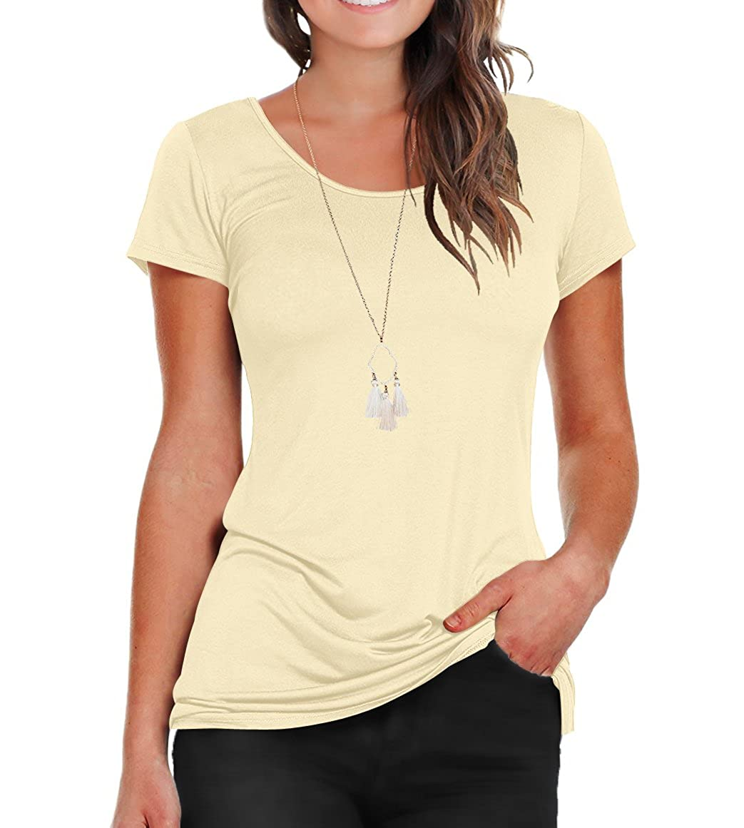 0de23fdc4ed Short rolled sleeves, scoop neck, slim fit design, casual tees can being an  undershirts also. Fabric is slightly sheer. Match with tank tops,camisole  or ...