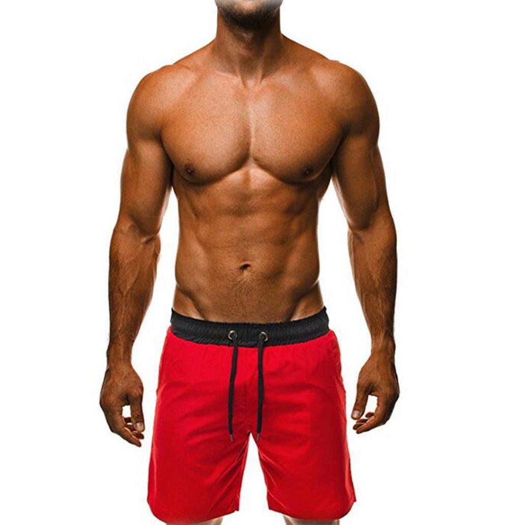 lisenraIn Men's Swim Trunks Quick Dry Beach Shorts Bathing Suit with Pockets