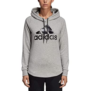 ae3b6c943153 adidas Women's Must Have Hoodie Medium Grey Heather/Black XX-Small