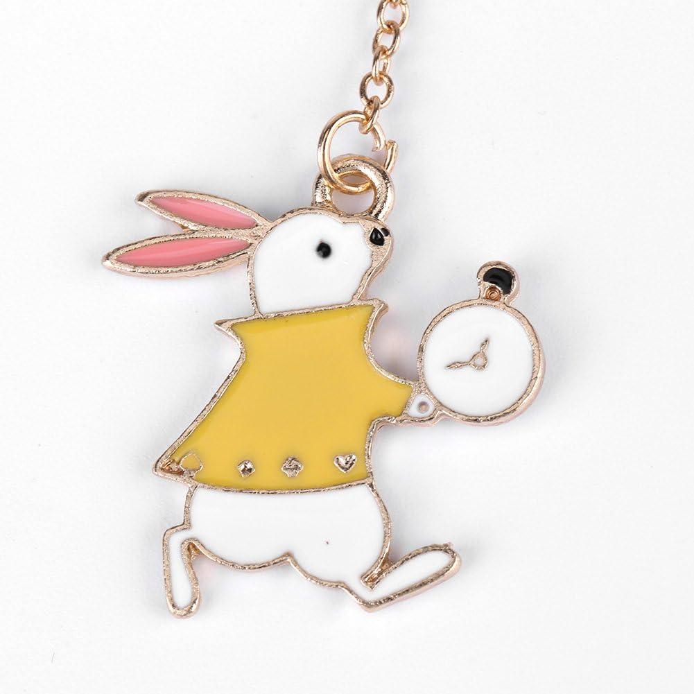 1PC delicate oro in metallo a forma di foglia segnalibro ultra Thin creative Cartoon page-marker regali di Natale con Alice//coniglio//orologi accessori per book-reading lovers /& Kids Rabbit