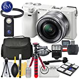 Sony a6000 Mirrorless Camera (White) w/16-50mm Lens + 32GB + Essential Photo Bundle