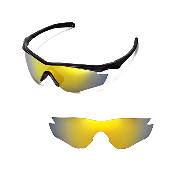228ca852de Walleva Replacement Lenses for Oakley M2 Sunglasses - 15 Options (24K Gold  Mirror Coated - Polarized)  Amazon.co.uk  Clothing