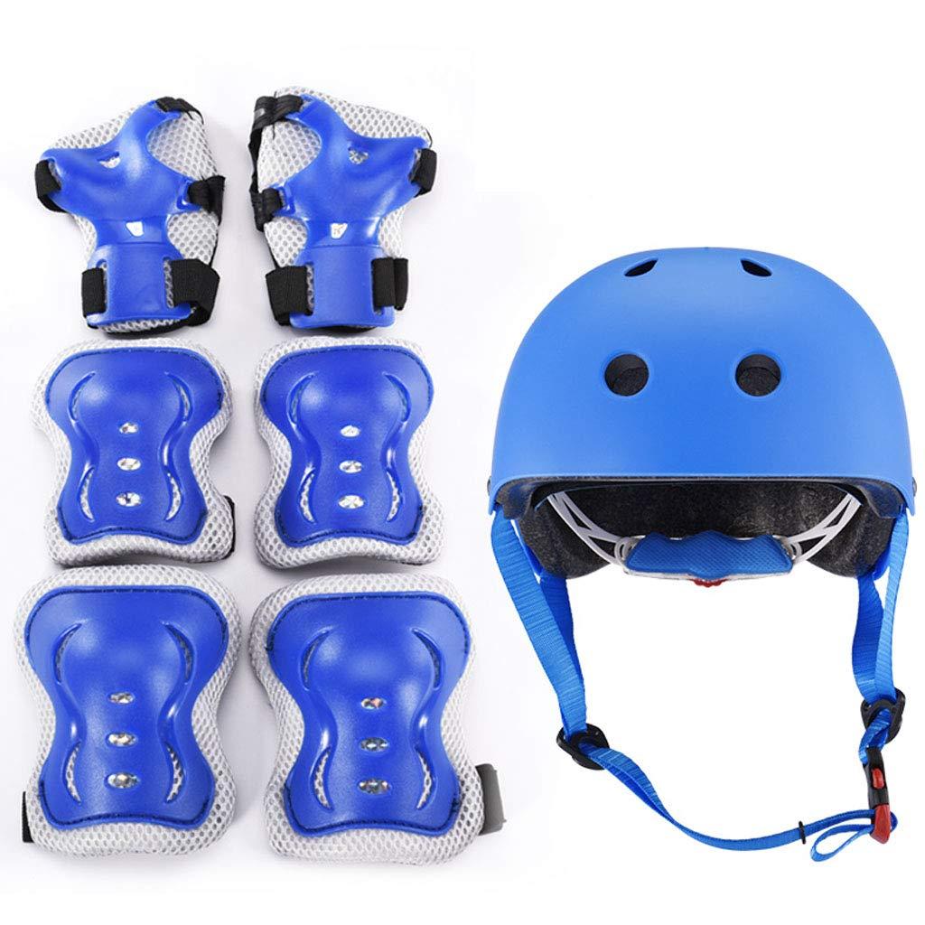 SDYYJK 7 in 1 Set di Casco Ginocchiere e Protezione Polso per Bambini per Pattini a Rotella BMX Skateboard Bicicletta Hoverboard