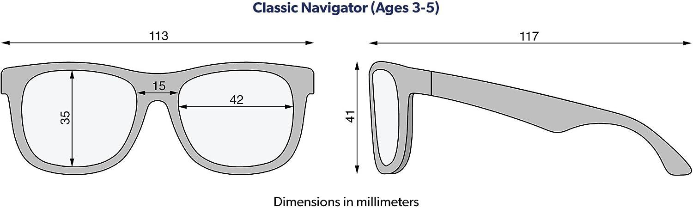 /Occhiali da Sole UV Toddler/ /Nero Ops /Original Navigator/ Babiators/