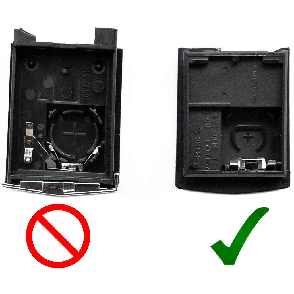 Blancs Batterie pour Mazda 5 CW 2 DE 3 BK 6 SW BT-50 CX-9 CX-7 B Bo/îtier de Remplacement pour Mazda Voiture Radio /à Distance avec cl/é 2 Boutons