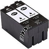 LiC-Store Remanufactured 802 802XL Ink Cartridges Compatible for WorkForce Pro WF-4730 WF-4720 WF-4740 WF-4734 Printer (2x Black)
