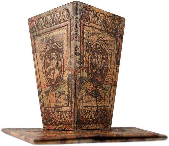 31cm x 20cm x 14cm LEATHERKIND Storia Cestino Per La Carta Italiano Realizzato a Mano Dimensione Regolare Colore Marrone Castagna Classico