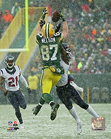 Jordy Nelson Green Bay Packers 2016 Action Photo (Size: 8