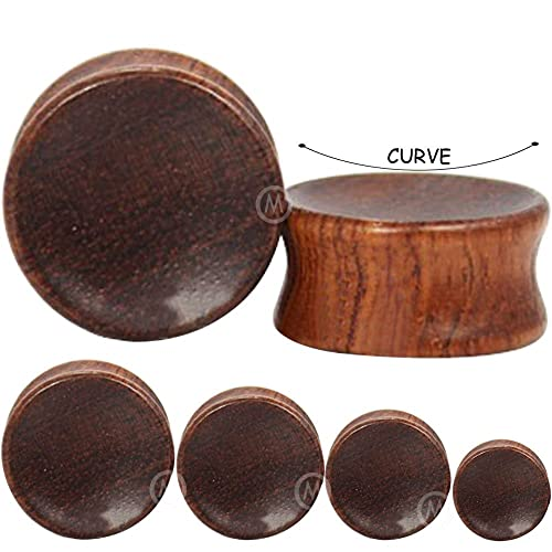 Amazon.com: Par 2 G (6 mm) a (30 mm) Madera Natural de ...