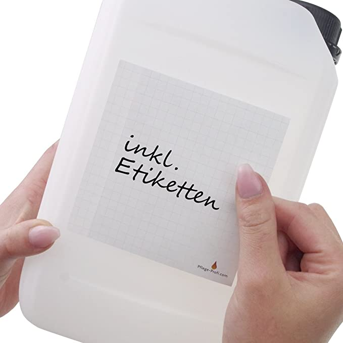 inkl Trevendo 5 x 5 Liter Kanister lebensmittelecht stapelbar Beschriftungsetiketten