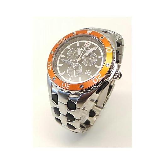 Reloj sector Contemporary 340 R 3253934045 al cuarzo (batería) acero quandrante negro correa acero: Amazon.es: Relojes