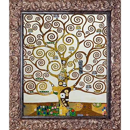 La Pastiche Tree Of Life Metallic Embellished Artwork By Gustav