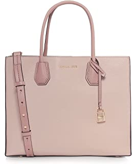 2bd6a3f75525c Amazon.com  Michael Kors Ava Medium Leather Satchel- Soft Pink  Shoes