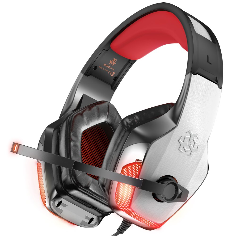 Auriculares Gamer : BENGOO V-4 para Xbox One PS4 PC  RED